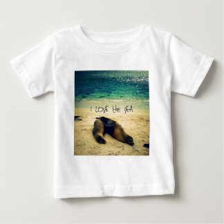 I love the Sea quote beach with sea lions Baby T-Shirt