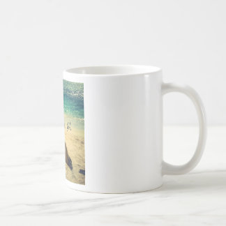 I love the Sea quote beach with sea lions Coffee Mug