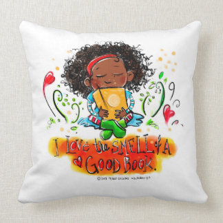 I love the SMELL Of a good book! Throw Pillow