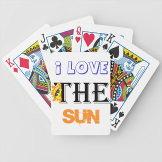 I Love The Sun Bicycle Playing Cards