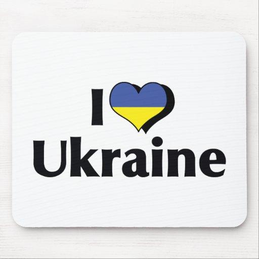 I Love The Ukraine Flag Mousepad