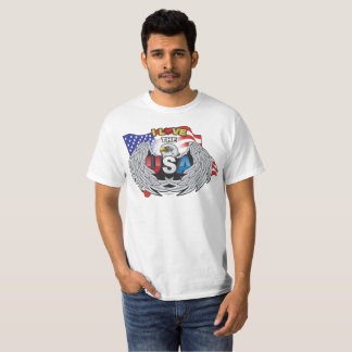 I LOVE THE USA AMERICAN EAGLE WINGS RED WHITE BLUE T-Shirt