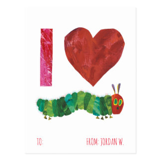 I Love The Very Hungry Caterpillar Postcard