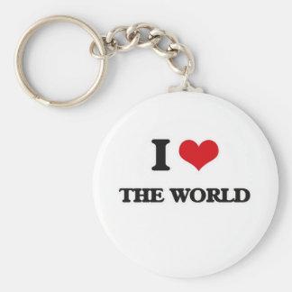 I Love The World Keychain