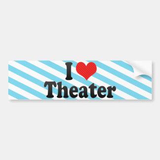 I Love Theater Bumper Sticker