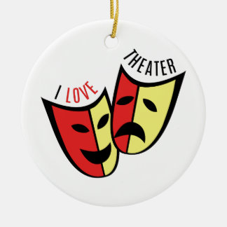 I Love Theater Christmas Ornament