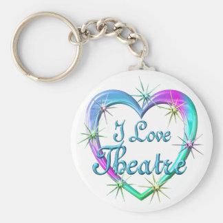 I Love Theatre Keychain