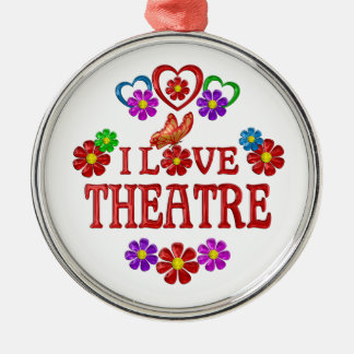 I Love Theatre Metal Ornament