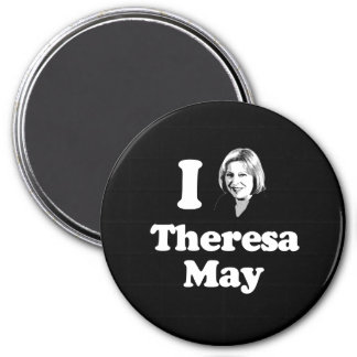 I Love Theresa - Bust - -  3 Inch Round Magnet