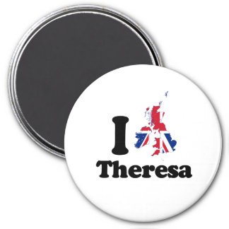 I Love Theresa - GBR - -  3 Inch Round Magnet