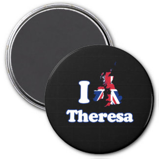 I Love Theresa - GBR -- -  3 Inch Round Magnet