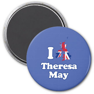 I Love Theresa May - GBR -- 3 Inch Round Magnet