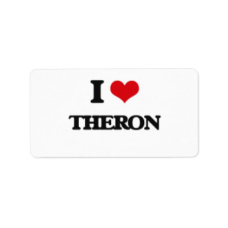 I Love Theron Address Label