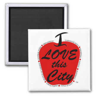 I love this city magnent square magnet