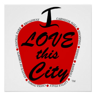 I love this city  poster. poster