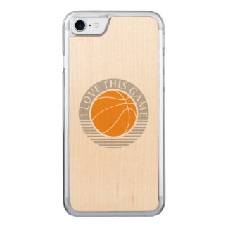 I love this game - basketball carved iPhone 7 case
