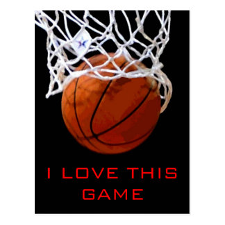 I Love This Game Basketball Motivational Postcard