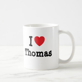 I love Thomas heart custom personalized Mugs