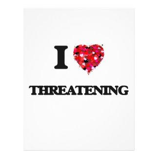 I love Threatening Full Color Flyer