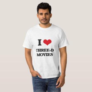 I Love Three-D Movies T-Shirt