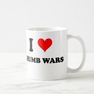 I Love Thumb Wars Coffee Mug