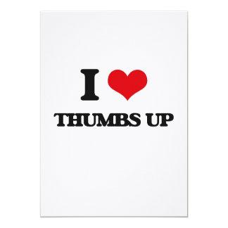 I love Thumbs Up 5x7 Paper Invitation Card