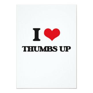 "I love Thumbs Up 5"" X 7"" Invitation Card"