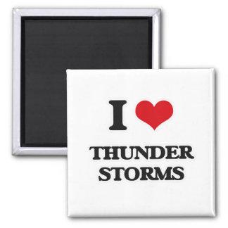 I Love Thunder Storms Magnet