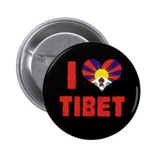 I Love Tibet Button