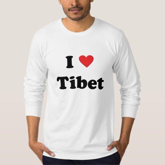 """""""I love Tibet"""" Long Sleeve T-Shirt"""
