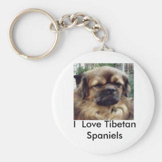 I  Love Tibetan Spaniels Keychain