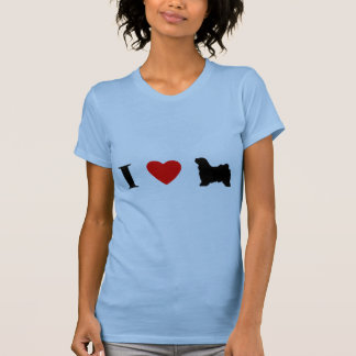 I Love Tibetan Terriers Ladies T-Shirt