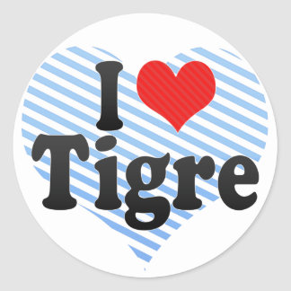 I Love Tigre Classic Round Sticker