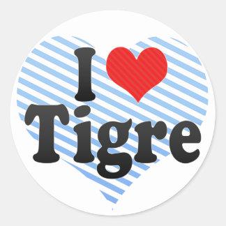 I Love Tigre Round Sticker