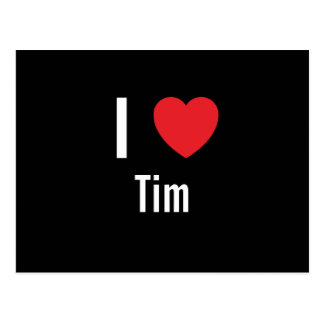 I love Tim Postcard