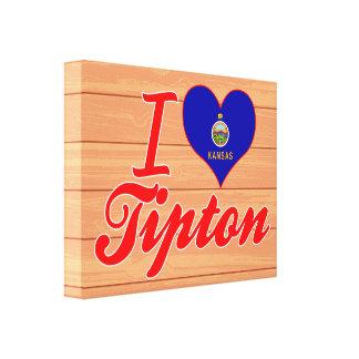 I Love Tipton, Kansas Stretched Canvas Prints