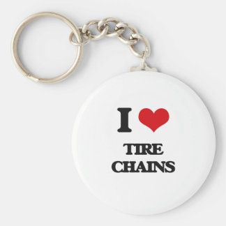 I love Tire Chains Keychain