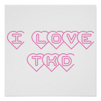 I Love TKD Poster Print