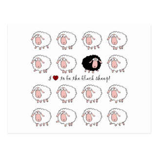 I love to be the black sheep postcard