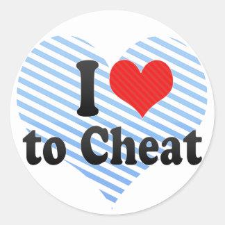 I Love to Cheat Round Stickers