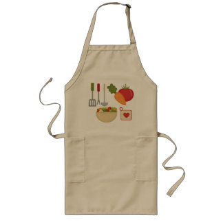 I love to cook long apron