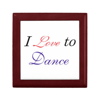 I Love to Dance Keepsake Box