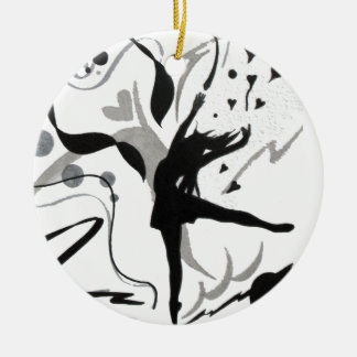 I Love To Dance! Round Ceramic Ornament