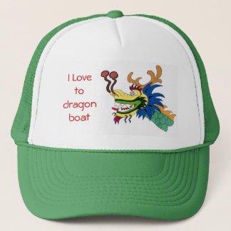 I Love to dragon boat Trucker Hat