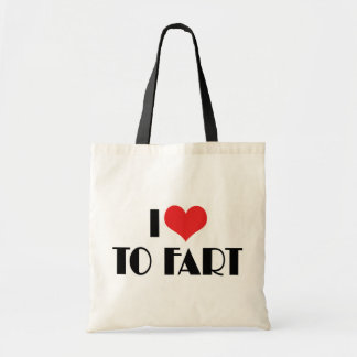I Love To Fart Canvas Bags