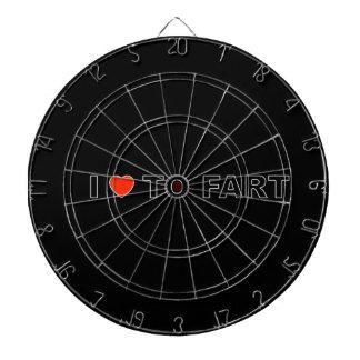 I LOVE TO FART DARTBOARD