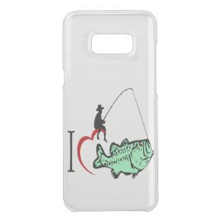 I love to go fishing with a red heart uncommon samsung galaxy s8 plus case