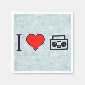 I Love To Hear Music Paper Napkin