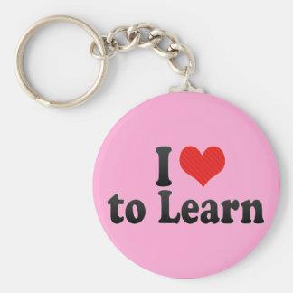 I Love to Learn Key Chain