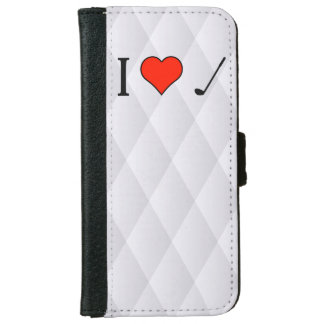 I Love To Play Golf With My Friends iPhone 6 Wallet Case